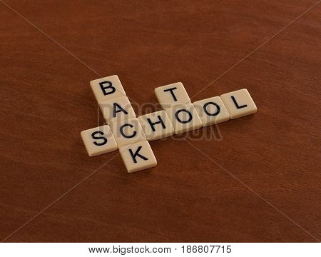 Crossword Puzzle With Words Back To School. Education Concept
