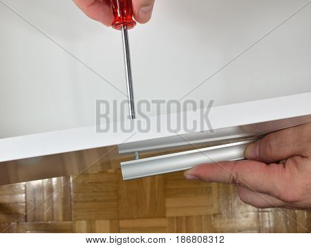 Installing Handle To A Drawer