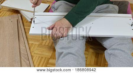 Inserting Wood Screw