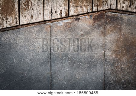 Cement and wood texture, Cement and wood background for interior or exterior design.