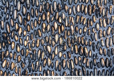 Stone pebbles texture, stone pebbles background for interior or exterior design.