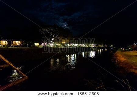 Touristic Pai Village Night Picture