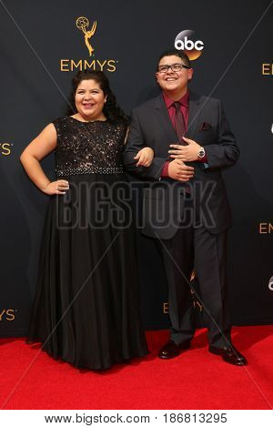 LOS ANGELES - SEP 18:  Raini Rodriguez, Rico Rodriguez at the 2016 Primetime Emmy Awards - Arrivals at the Microsoft Theater on September 18, 2016 in Los Angeles, CA