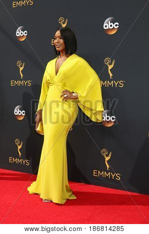 LOS ANGELES - SEP 18:  Angela Bassett at the 2016 Primetime Emmy Awards - Arrivals at the Microsoft Theater on September 18, 2016 in Los Angeles, CA