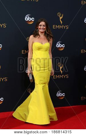 LOS ANGELES - SEP 18:  Alison Wright at the 2016 Primetime Emmy Awards - Arrivals at the Microsoft Theater on September 18, 2016 in Los Angeles, CA