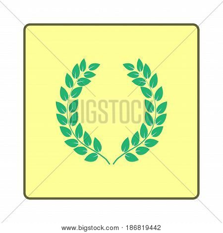 Twig green in frame. Fashion graphic background design. Modern stylish abstract texture. Colorful template for prints textiles wrapping wallpaper website. Design element. Vector illustration