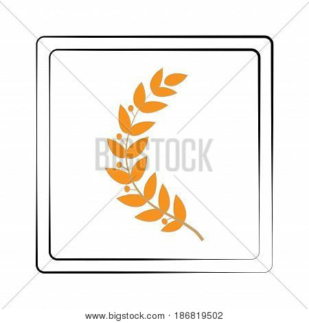 Twig gold in frame. Fashion graphic background design. Modern stylish abstract texture. Colorful template for prints textiles wrapping wallpaper website. Design element. Vector illustration