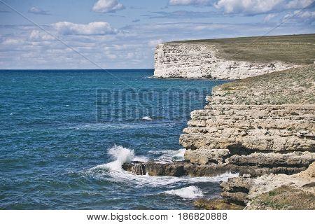 Cape Tarhankut, Nature Reserve Dzhangul, Crimea.