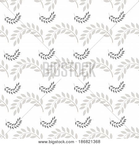 Black twig on white seamless pattern. Fashion graphic background design. Modern stylish abstract texture. Monochrome template for prints textiles wrapping wallpaper website. Vector illustration
