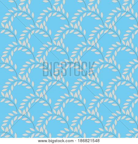Twig on blue background. Fashion graphic background design. Modern stylish abstract texture. Colorful template for prints textiles wrapping wallpaper website etc. Vector illustration