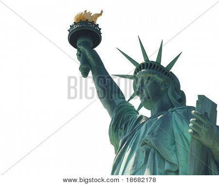 The Statue of Liberty, Isolated on White