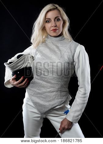 Portrait Of Adult Woman Fencer