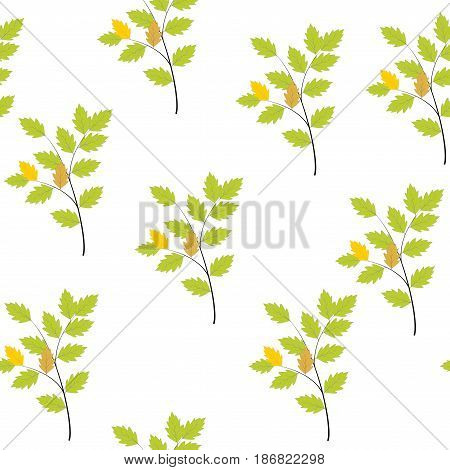 Twig seamless pattern. Fashion graphic background design. Modern stylish abstract texture. Colorful template for prints textiles wrapping wallpaper website. Design element. Vector illustration