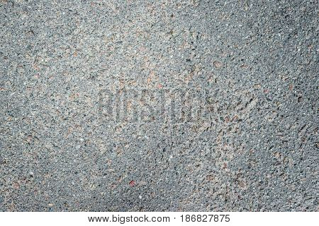 Background, Part Of Gray Asphalt With Texture And Darkened Edges Of The Frame. Horizontal Frame