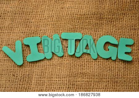 word vintage on a  abstract colorful background