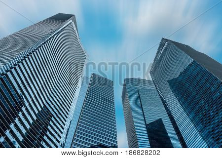 Tower of business and central command. Modern architecture design.