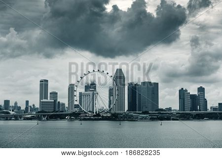 Business downtown and city landscape of Singapore.