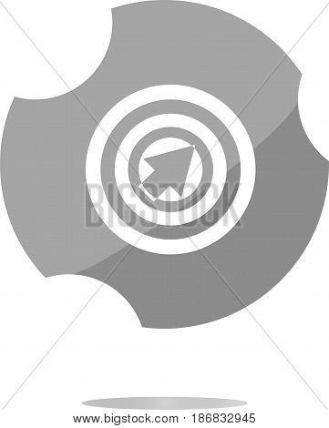 Mouse Cursor Sign Icon. Pointer Symbol. Modern Ui Website Button