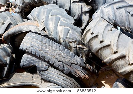 In Oman Old Tires