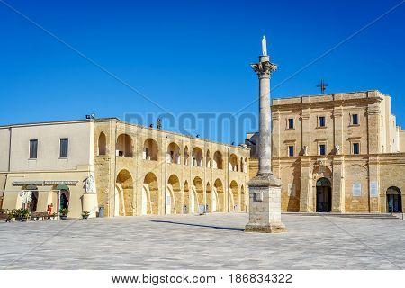 Sanctuary In Leuca, Puglia, Italy