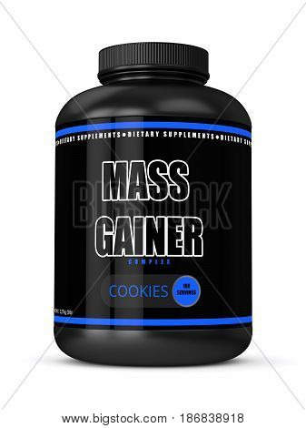 3D Render Of Mass Gainer Bottle