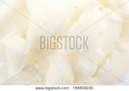 Shea butter texture, macro view