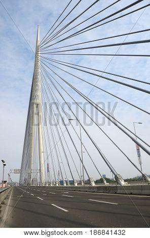 Pylon bridge over Ada, Belgrade - Serbia