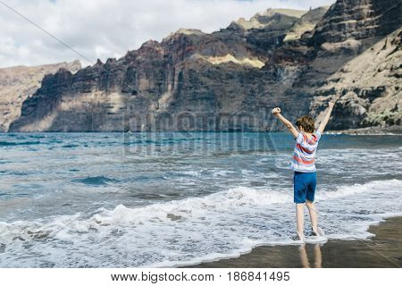 Happy Child On Vacation.