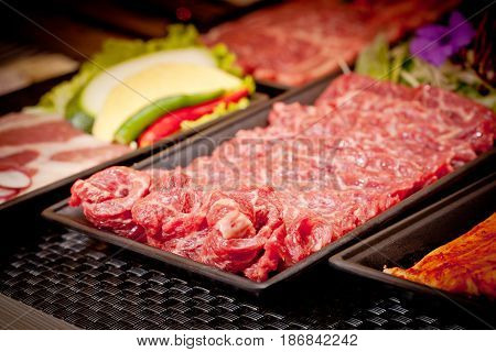 Fresh Raw Beef For Grilling In Korean Style
