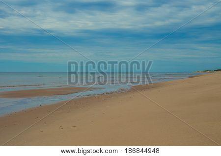 Quiet stretch of beach in prince Edward island