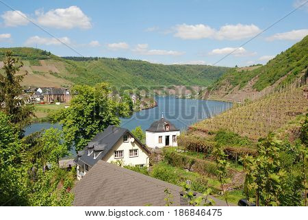 a view of the river Mosel from Beilstein germany