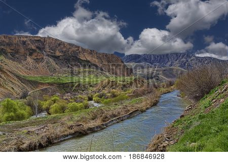 early spring in the mountains of Armenia