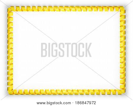 Frame and border of ribbon with the state New Mexico flag USA. 3d illustration