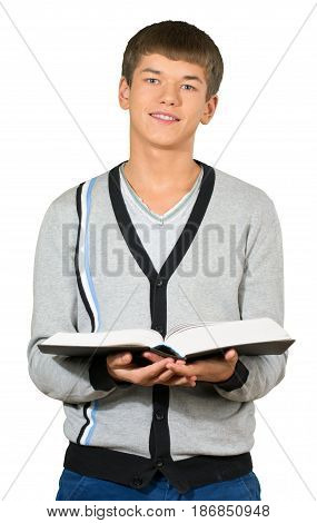 Man male boy preppy book teenager school book