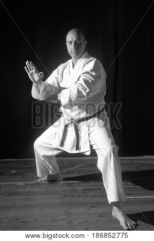 Black and White Karate Techniques with Master War Marco C.N. 6 days.