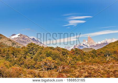 Fitz Roy Mountain Distant View, Aisen Chile