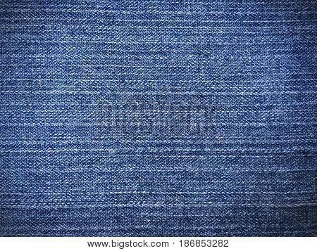 Close up blue jean denim textured background