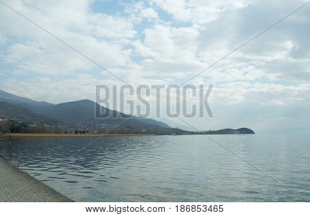 Ohrid town and lake in Macedonian republic