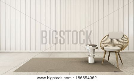 Simple of livingroom set modern - 3D render