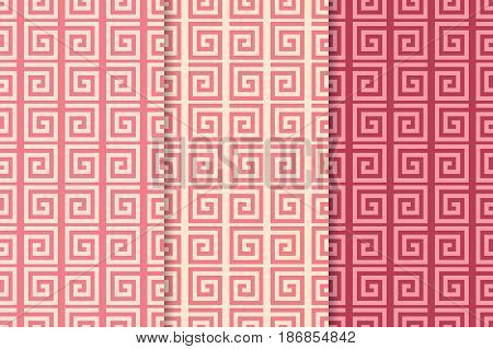 Spiral seamless pattern. Colored background. Vector illustration