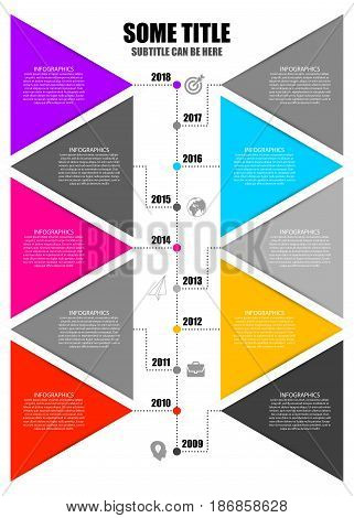 Modern Infographics Process Template. Timeline concept. Vector illustration