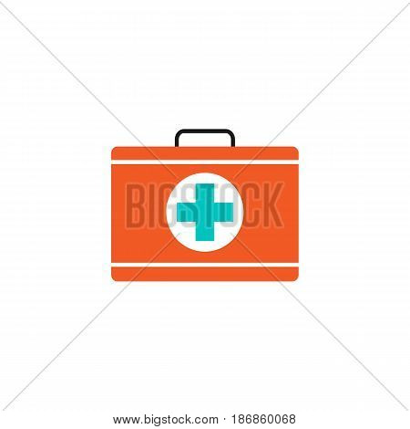 First aid box solid icon, medical case and bag, vector graphics, a colorful linear pattern on a white background, eps 10.