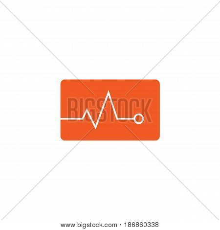 Heartbeat solid icon,  Element of medical and pulse sign , vector graphics, a colorful linear pattern on a white background, eps 10.