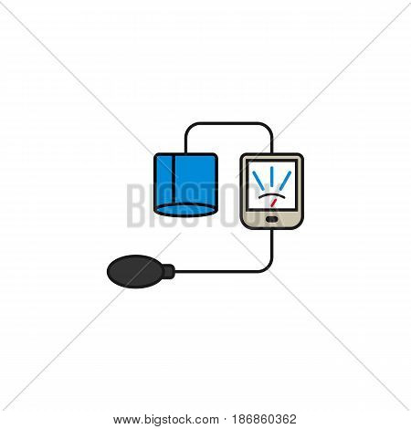 Blood sphygmomanometer solid icon,  Element of medical and Blood pressure sign, vector graphics, a colorful linear pattern on a white background, eps 10.