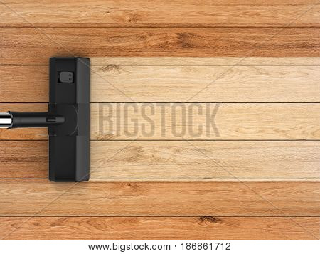Vacuum Cleaning On Wooden Background