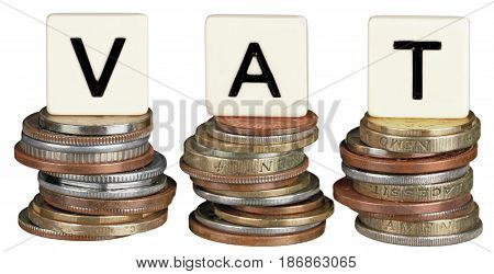 Coins change euros vat tax value added tax european tax