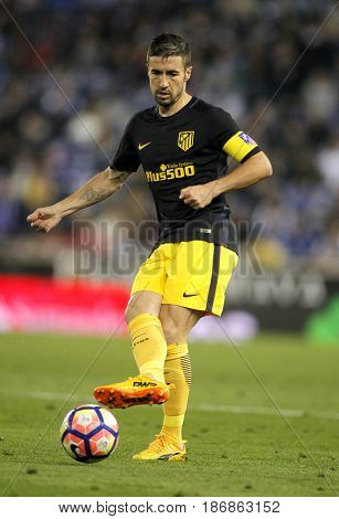 BARCELONA, SPAIN - MAY, 6: Gabi Fernandez of Atletico de Madrid during a Spanish League match against RCD Espanyol at the RCDE Stadium on May 6 2017 in Barcelona Spain