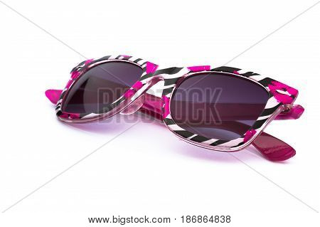 Sunglasses glasses eyeglasses shades horn rimmed eyewear isolated on white