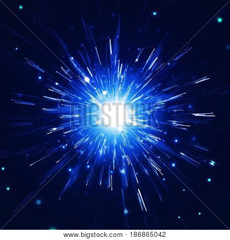 abstract vector background firework blowup om dark