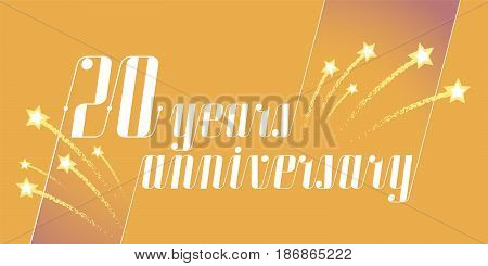 20 years anniversary vector icon logo. Graphic design element or banner for 20th anniversary
